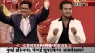 Mihir Joshi on Star Majha - The Mumbai Indians Song Performance