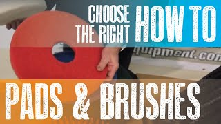 Floor Scrubbers - How to Choose the Right Pads and Brushes