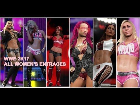 WWE 2K17 ALL WOMENS/DIVAS ENTRANCES!