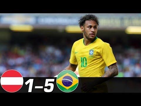 🔥 Бразилия - Австрия 5-1 - Обзор Контрольных Матчей 18/11/2014 - 10/06/2018 HD 🔥