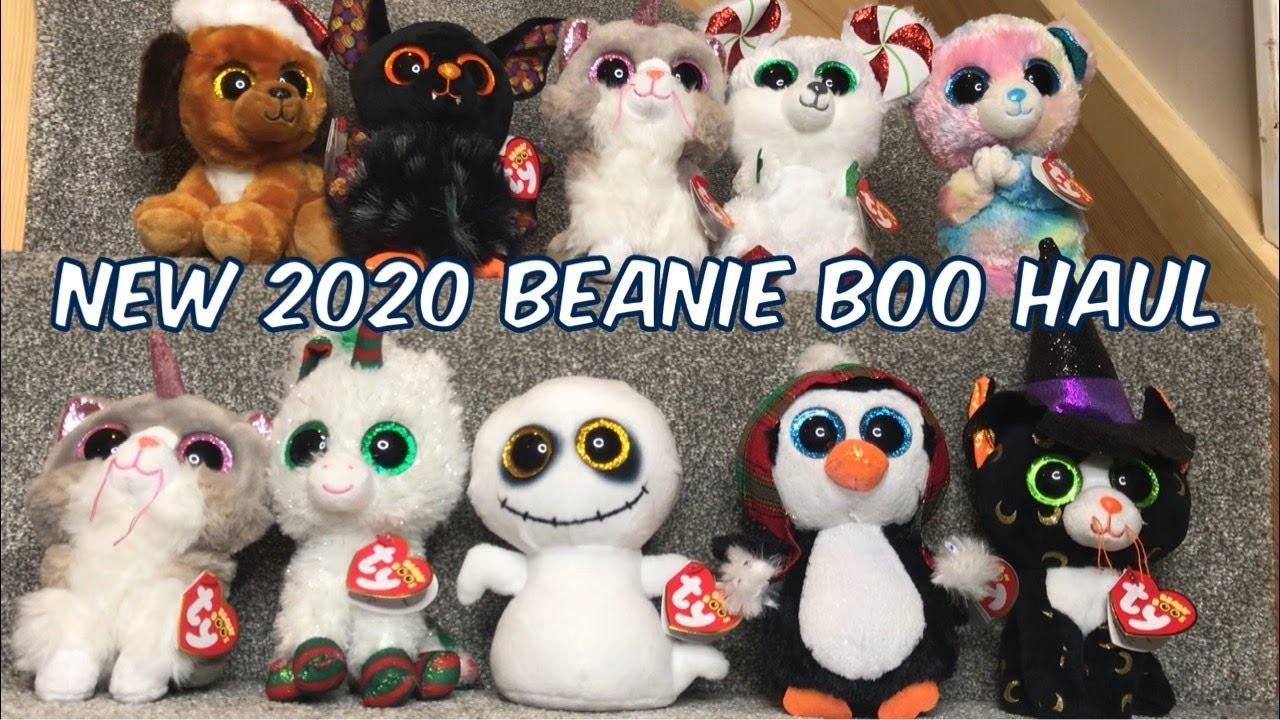 New 2020 Beanie Boo Haul including Halloween and Christmas Boos