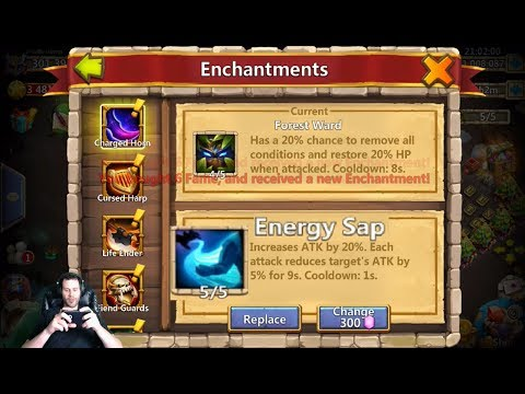 JT's Main Rolling For Enchantment Talents Wargod For Ronin + Mechtessa Castle Clash