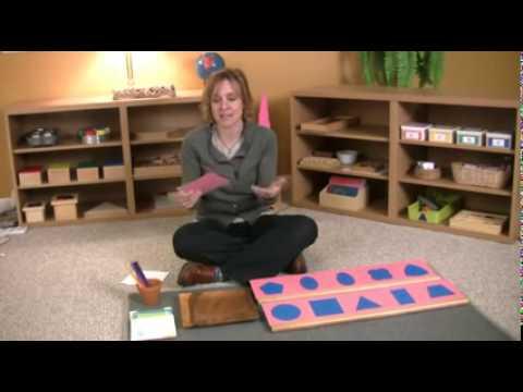 Montessori Language Lesson   Metal Insets Extensions