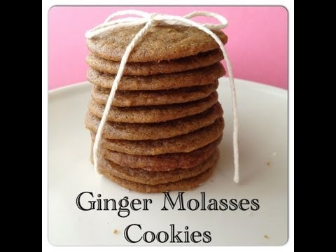 Soft and Chewy Ginger Molasses Cookies Recipe