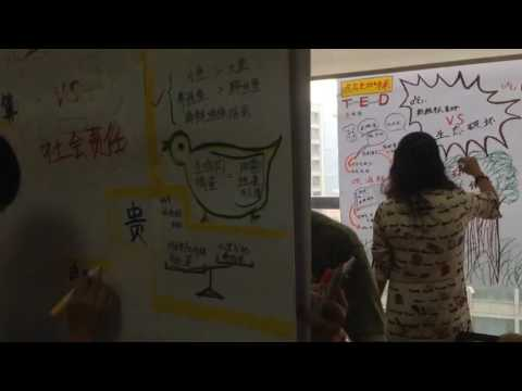 Learn graphic recording, at Shanghai LOG 2 days workshop