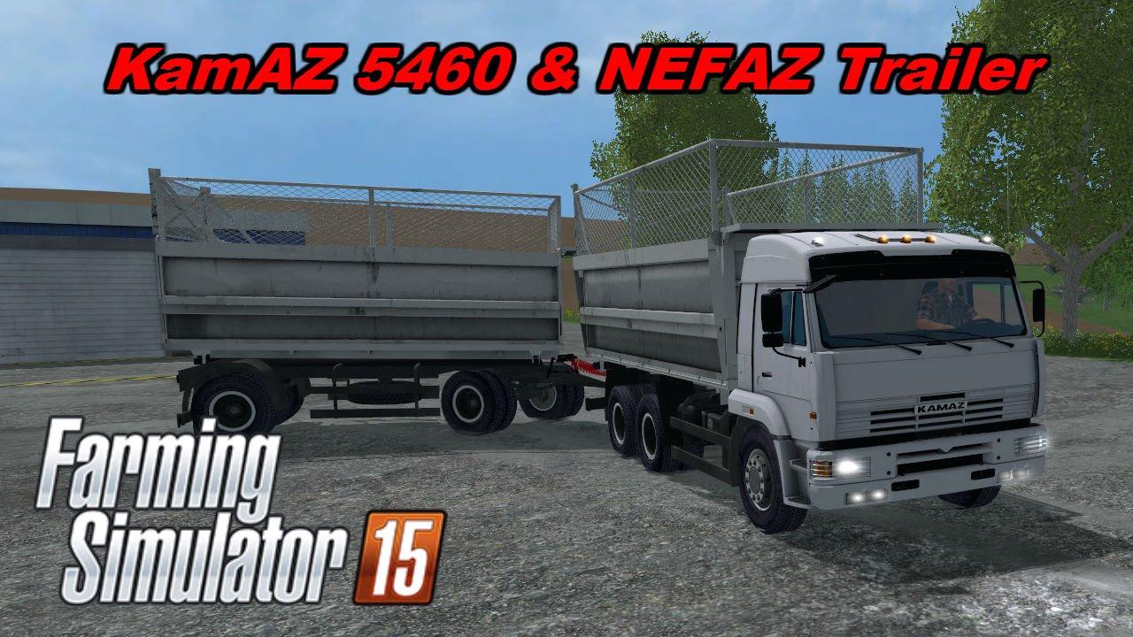 Farming Simulator 15 Mods - KamAZ 5460 & Trailer