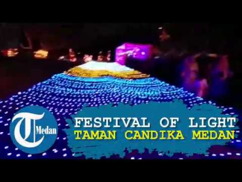 Festival Of Light Taman Cadika Pramuka Medan Youtube