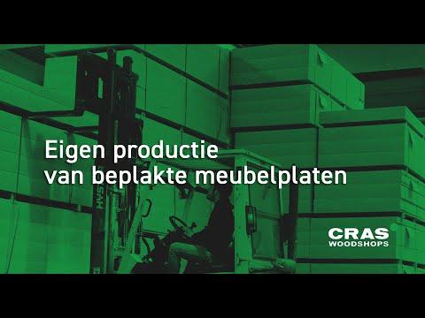Eigen productie van beplakte meubelplaten