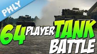 YUUUGE TANK BATTLE - 64 Players 1 Map (War Thunder Tank Gameplay)