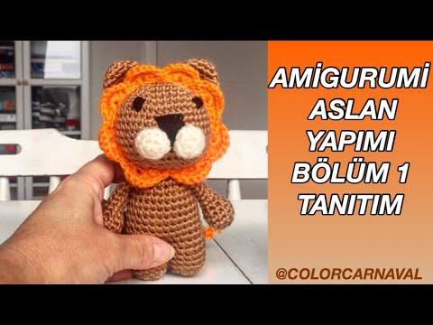 Amigurumi Türkiye-Aslan Anahtarlık Tarifi   360x480