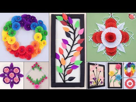 10 Genius Paper Craft Idea !!!  DIY Room Decor !!! Wall Hanging