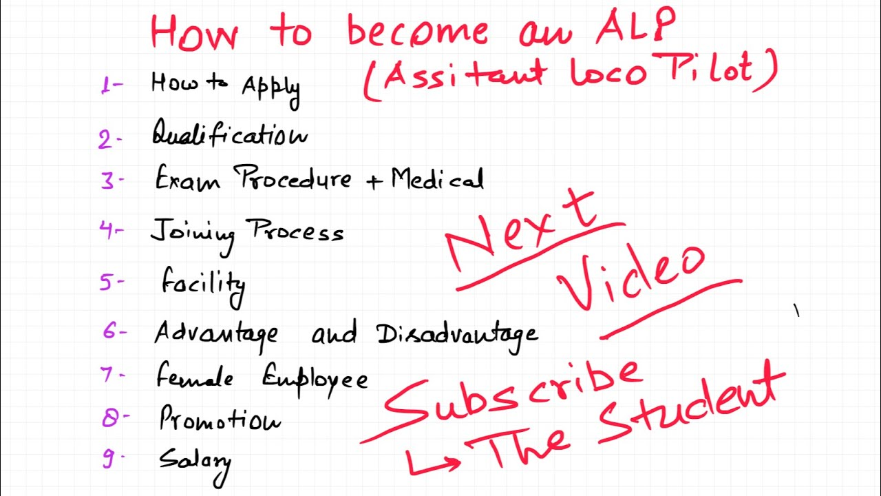 How to become ALP in Indian Railway ( Demo for next video)