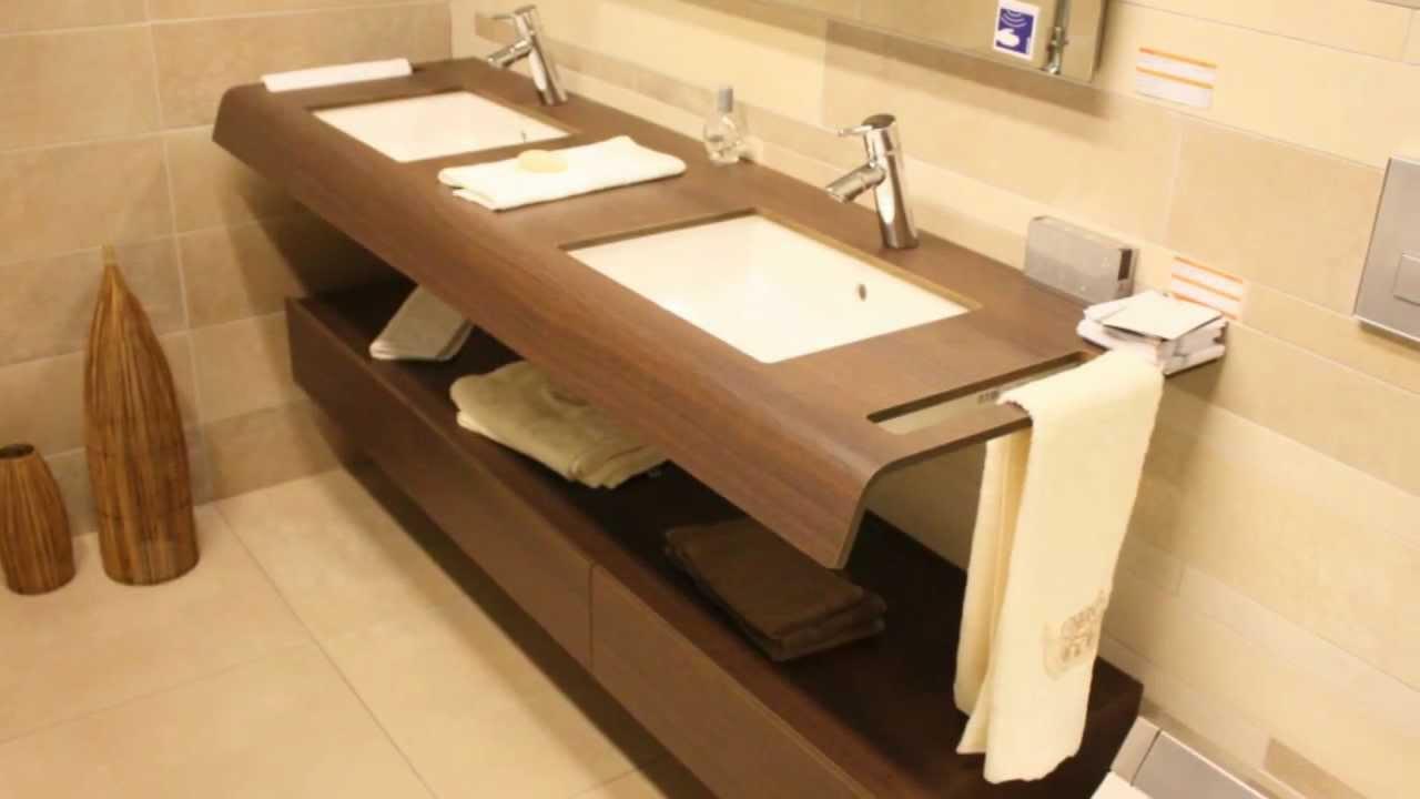 Inloopdouche Met Wasmeubel : Tegels en sanitair vrijstaande bad badmeubel inloopdouche youtube