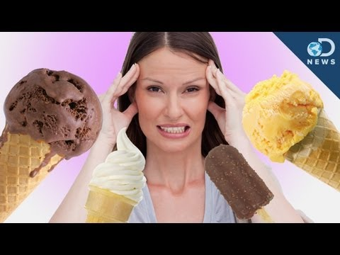 why we get a brain freeze One second you're gulping down the most delicious milkshake you've ever had,  and the next, your head is throbbing in horrendous pain.