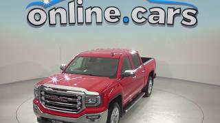 A97885TA Used 2016 GMC Sierra 1500 SLT 4WD Crew Cab Red Test Drive, Review, For Sale