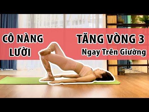 Bài Tập Yoga Trên Giường TĂNG VÒNG 3 Cho Cô Nàng Lười Đến Phòng Tập | Luna Thái I Yoga Cơ Bản