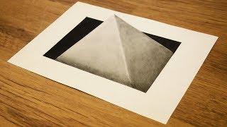 Как нарисовать простой 3D рисунок фигура в подземельи