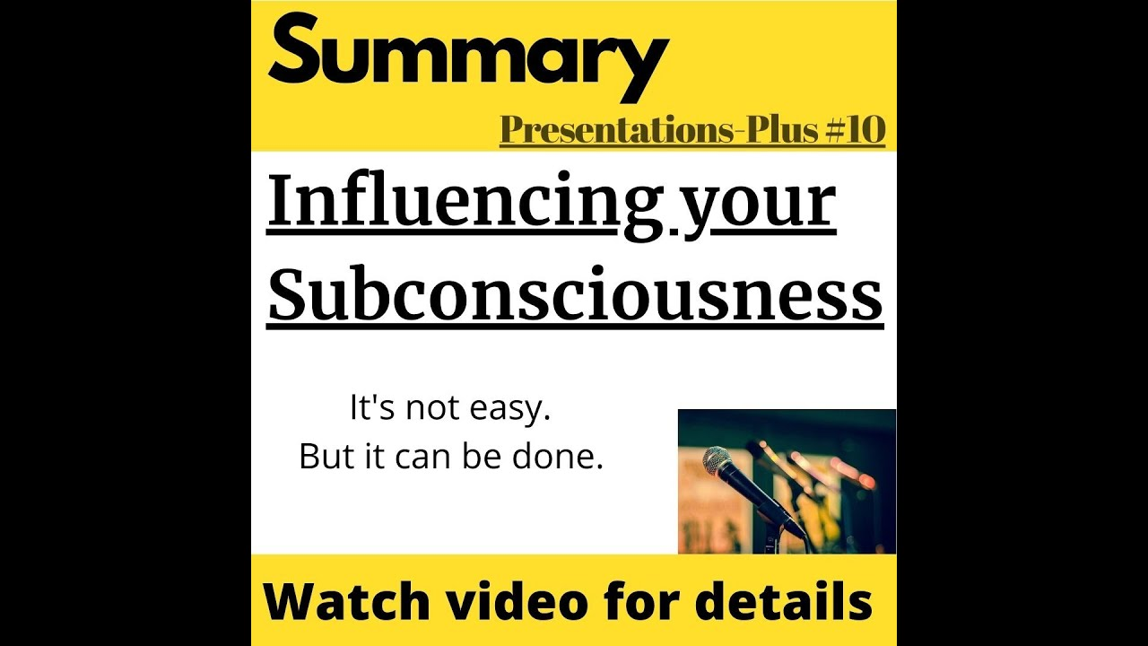Influencing the automated machinery of subconscious mind