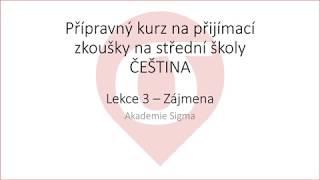 Kurz češtiny PZ - L3 - zájmena