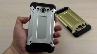 ОБЗОР: Комбинированный Чехол-Накладка для Samsung Galaxy J5 SM-J510 2016 года(Цена и наличие тут: ..., 2017-03-10T13:13:42.000Z)