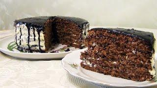 Торт Прага. Рецепт шоколадного торта с орехами
