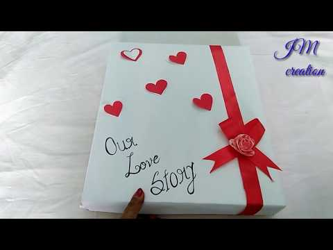 Anniversary Scrapbook Ideas For Husband/Handmade Love Scrapbook For Hubby/ For Someone Special 2018