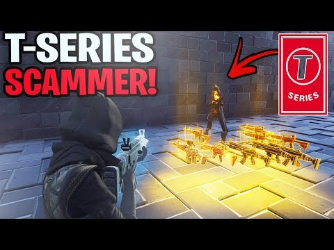 T Series Scammer Tried To Scam Me! (Scammer Gets Scammed) Fortnite Save The World