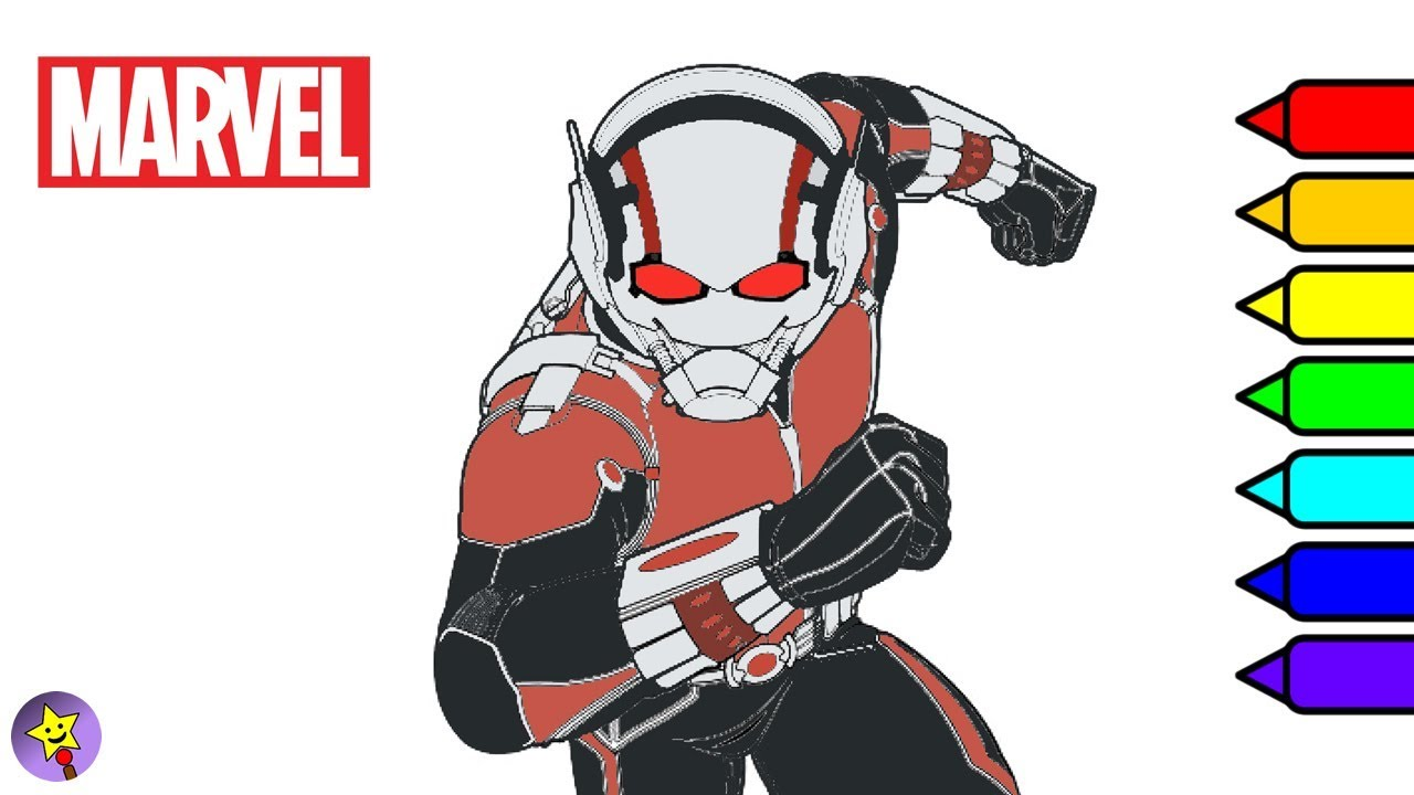Marvel Ant-Man Coloring Book Antman Coloring Page Marvel Superhero ...
