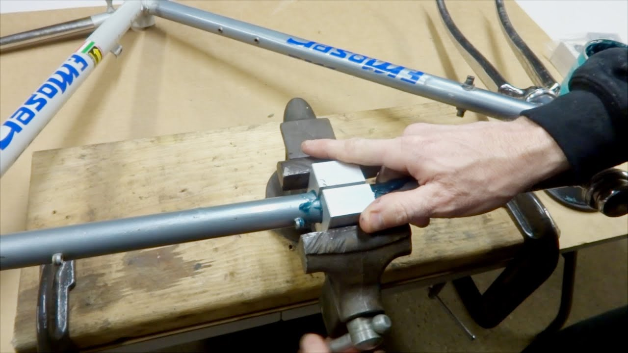 Rolling Out Bike Frame Dents With Frame/Tube Blocks - YouTube