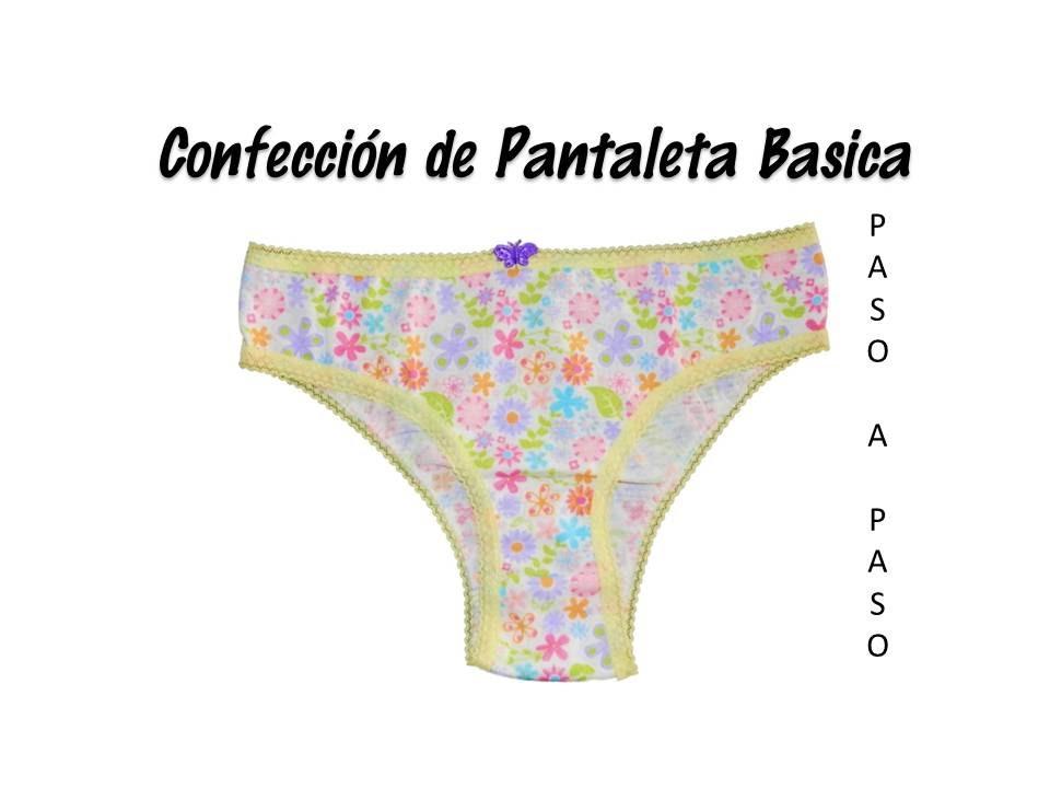 Confección de Pantaleta Básica - YouTube