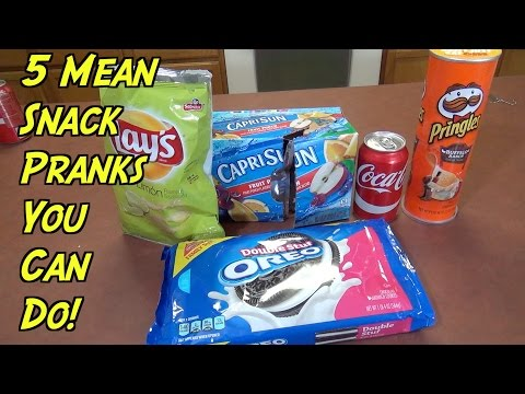 5 Mean Snack Pranks You Can Do- HOW TO PRANK (Evil Booby Traps)