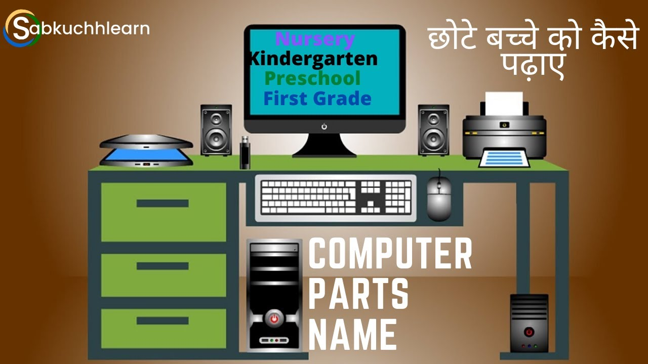 Computer Parts Name for Kids in Hindi   All Hardware Parts Images