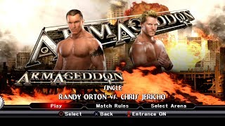 WWE SmackDown VS Raw 2009 PS3 Gameplay - Randy Orton VS Chris Jericho [60FPS][FullHD]