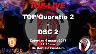 TOP/Quoratio 2 tegen DSC 2, zaterdag 4 maart 2017