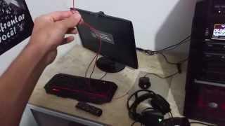 Como fazer uma antena digital HDTV interna com apenas 2 fios