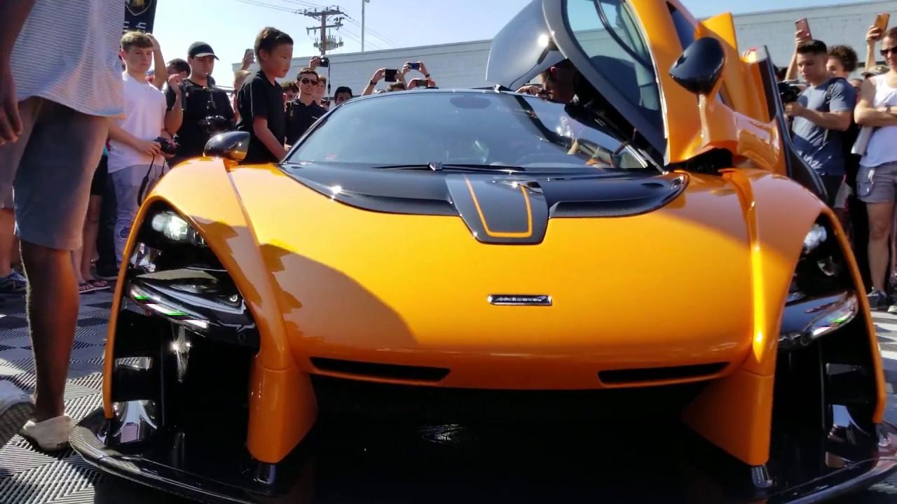Mclaren Senna Riot At Lamborghini Newport Beach Youtube