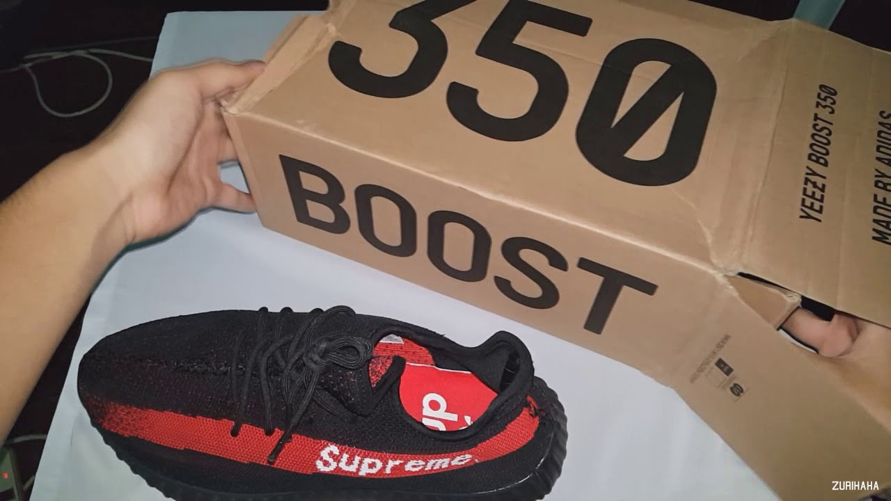 49b95032baf SUPREME YEEZY BOOST 350 V2 UNBOXING!! HYPE 2017 - YouTube