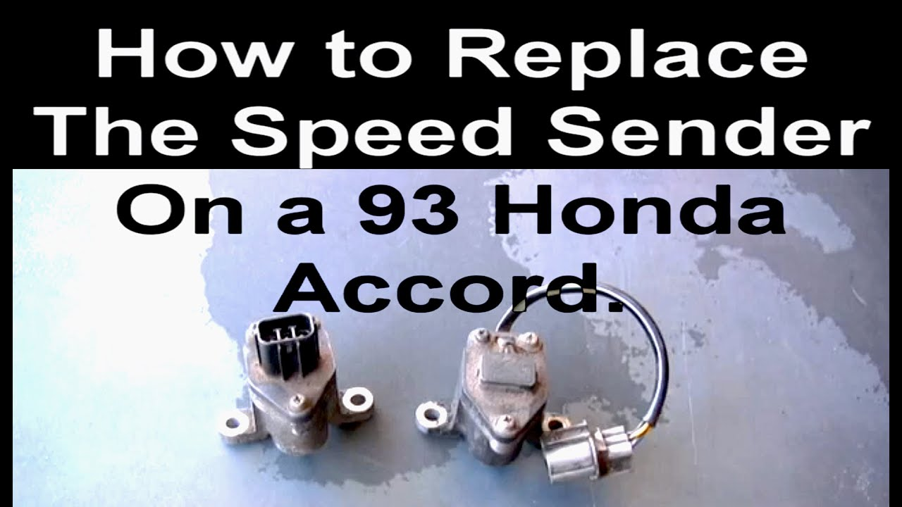 How To Change The Vehicle Speed Sensor On A Honda Accord Youtube 2005 O2 Wiring