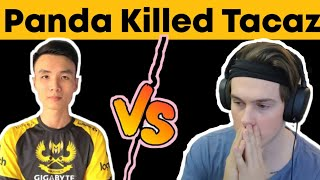 Panda Killed Tacaz | Insane Fight between two legends | Solo vs Squad | who will win? 1v1