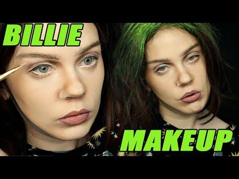 BILLIE EILISH MAKEUP TRANSFORMATION — Green Hair Edition