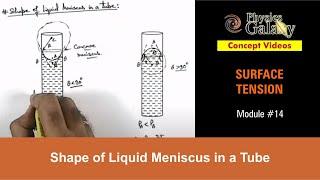 Baixar 14. Physics | Surface Tension | Shape of Liquid Meniscus in a Tube | by Ashish Arora