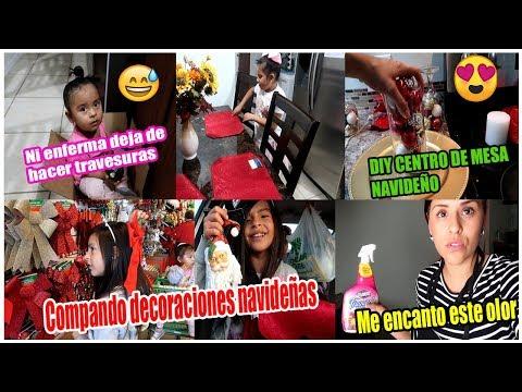 COMPRANDO DECORACIONES NAVIDEÑAS Y DECORANDO MI COCINA😊/ DIY CENTRO DE MESA NAVIDEÑO FACIL Y RÁPIDO