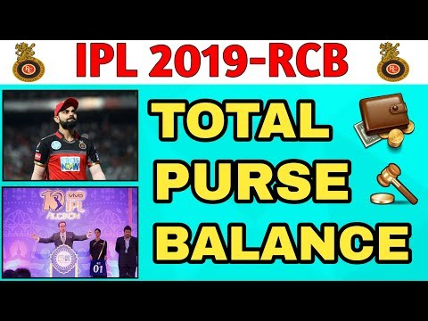 Ipl 2019; RCB AUCTION STRATEGY || Royal challengers Bangalore final money left