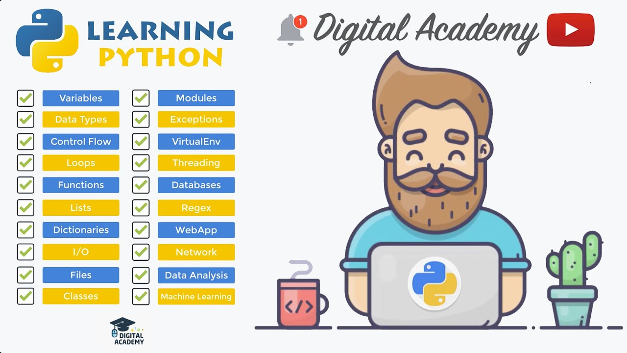 Learn Python Programming Tutorials for Absolute Beginners [FULL Course]