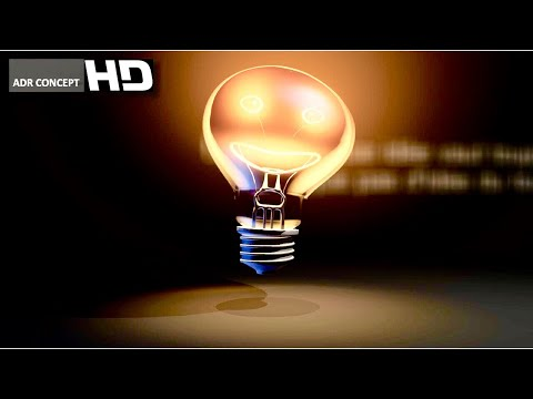 3D Bulb light Animated short film 3DS MAX 2018 rendering lighting After effect 4D Best quotation