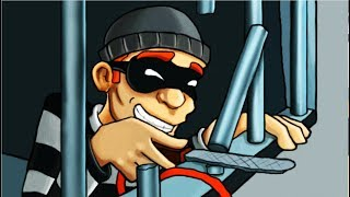 ВОРИШКА БОБ Побег из тюрьмы #3 Мультик игра для детей Robbery Bob мультяшная видео игра