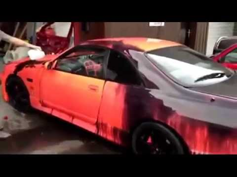 car thermochromic paint changes color youtube. Black Bedroom Furniture Sets. Home Design Ideas