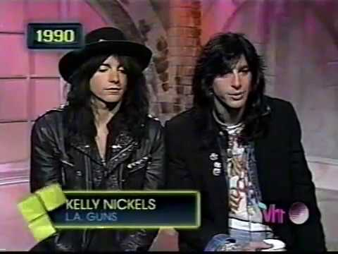 LA Guns' Kelly Nickels 1989 clip