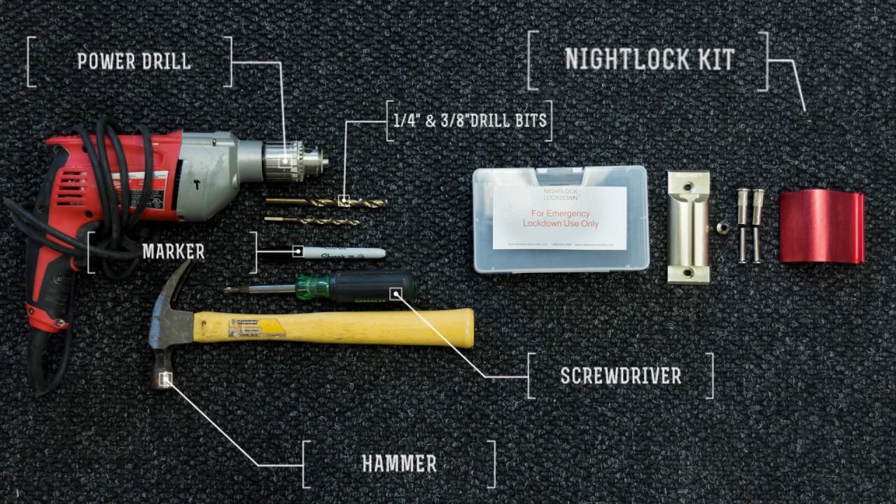 How to Install the Nightlock Lockdown 2 Door Barricade Device