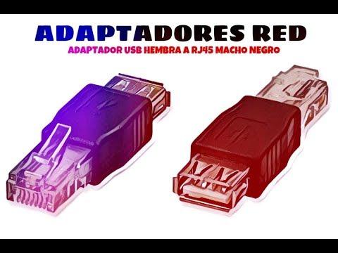 Video de Adaptador USB hembra a RJ45 macho  Negro